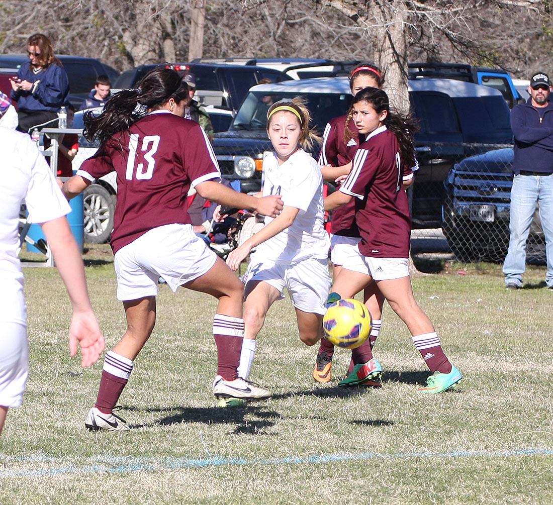 Junior striker Bayleigh Chaviers will try to play despite shin splints when Stephenville travels to Midland to face San Elizario in an area playoff Thursday evening. || File photo