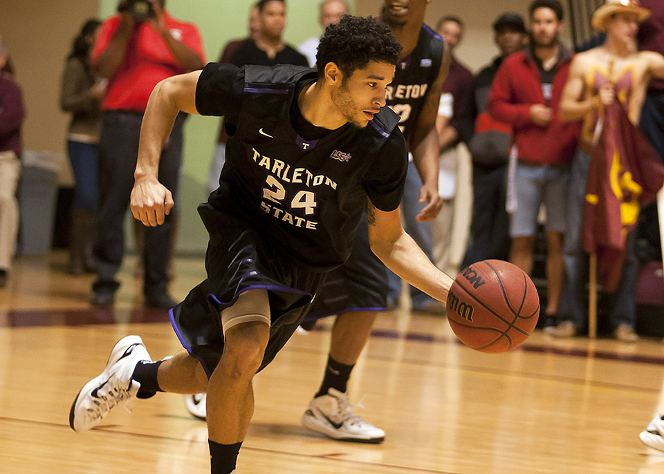 Junior point guard Michael Hardge and No. 11 Tarleton State host one of Wisdom Gym's most anticipated games in years Wednesday against No. 4 Angelo State.    Photo courtesy NATHAN BURAL/Tarleton