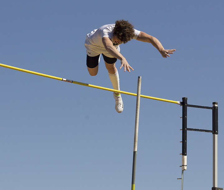 Jon Clark Giddings earned a second-place finish in the pole vault in Saturday's Optimist Relays. || Photo courtesy Dr. CHET MARTIN