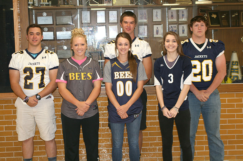 Stephenville FCA All-Stars include, left to right, Josh Gillespie, Sierra Varnado, Cassidy Cline, Justice Wisener, Kelcee Jones and Colby Stone. || BRAD KEITH/TheFlashToday.com