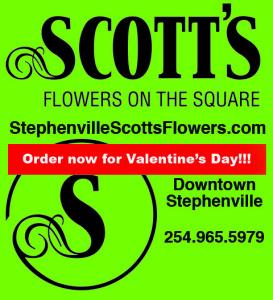 Scott's Flowers box ad Vday copy