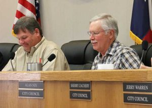 """Alan Nix (right) will serve as Stephenville's Mayor Pro Tem after being elected by the council. Rhett Harrison (left) turned down a nomination citing it was """"not the time."""""""