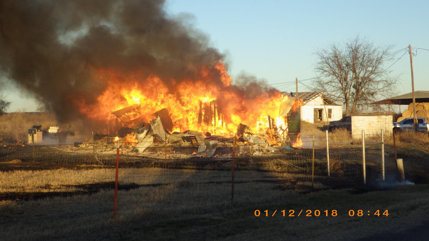 house fire CR 255 1/12/18